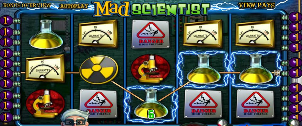 Автоматы онлайн Mad Scientist